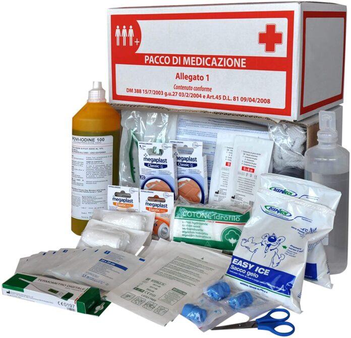 Kit di pronto soccorso per casa e lavoro