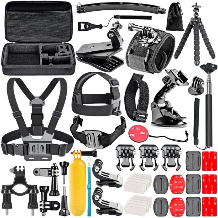 Action camera sportivo e accessori